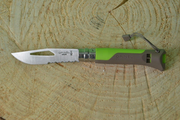 Opinel Taschenmesser No 08 Outdoor Earth, grün, rostfrei