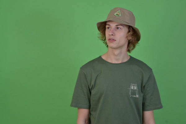 Small Logo T-Shirt Olive/Natural