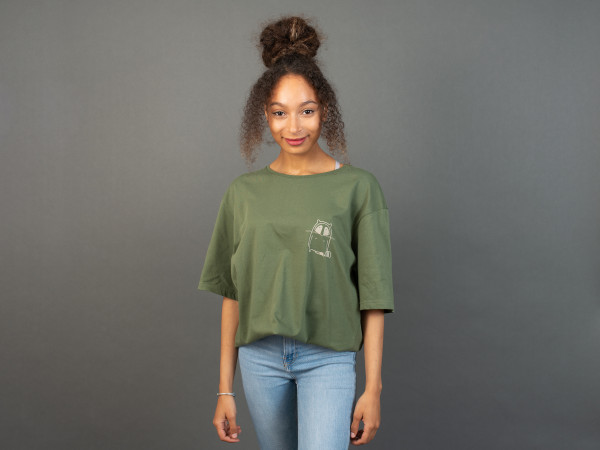 Small Logo Unisex T-Shirt Olive/Natural