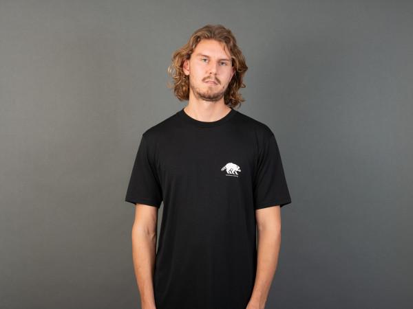 Klaus Action T-Shirt Black/Vintage-White