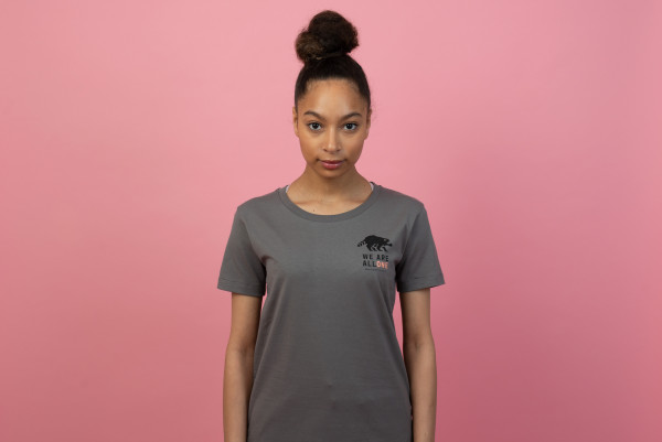 All One Women T-Shirt Grey/Black-Coral