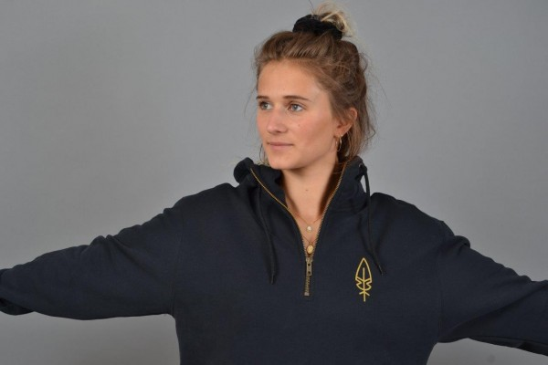 Feather Women Halfzip Black/Golden-Yellow