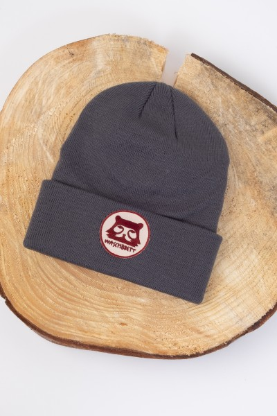 Bergbär Circle Beanie Grey/Burgundy