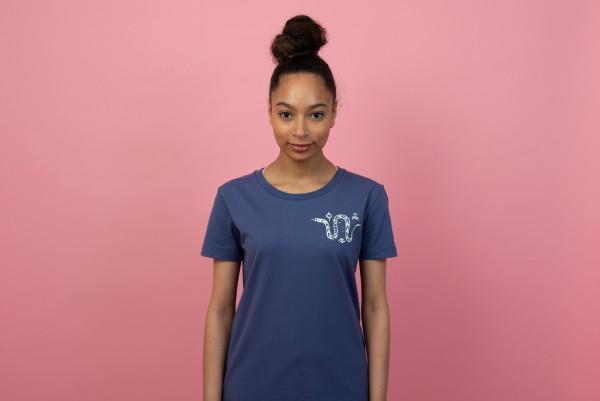 Snake Women T-Shirt Purple/Sage