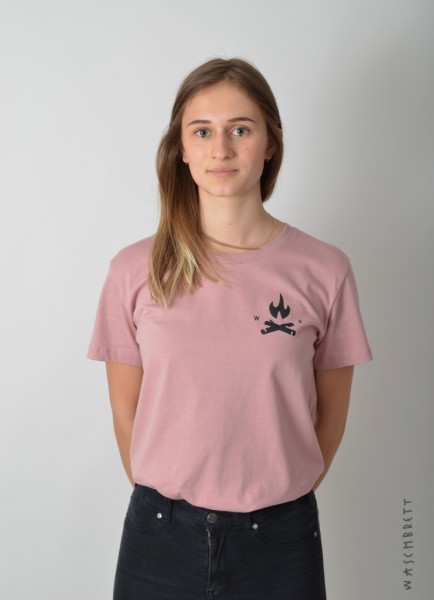 Fire Icon Women T-Shirt Soft-Rose/Black Varianten