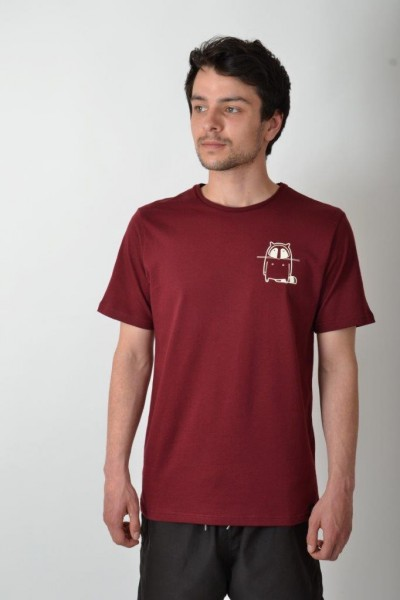 Small Logo T-Shirt Bordeaux/Vintage White