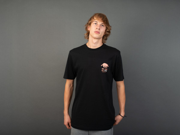 All One T-Shirt Black/Coral-Clay