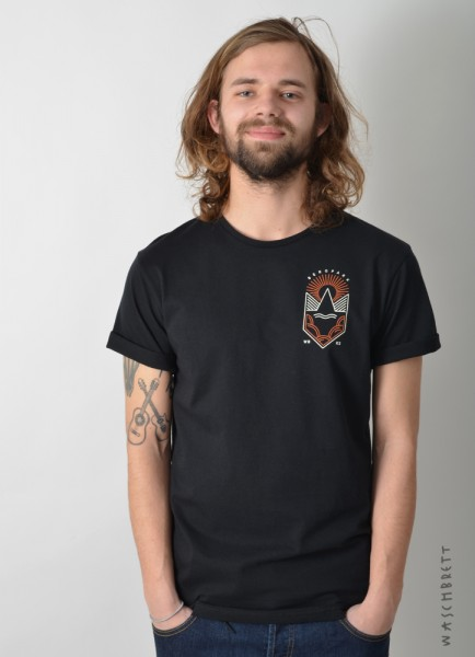 Weltkultur Backprint T-Shirt Black/Vintage White-Orange